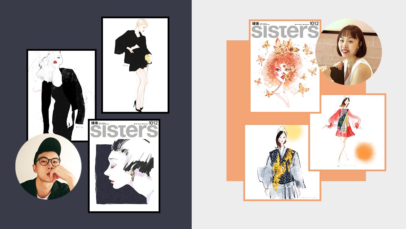 Malaysian Fashion Illustrators Floyd Grey Miss Eleen