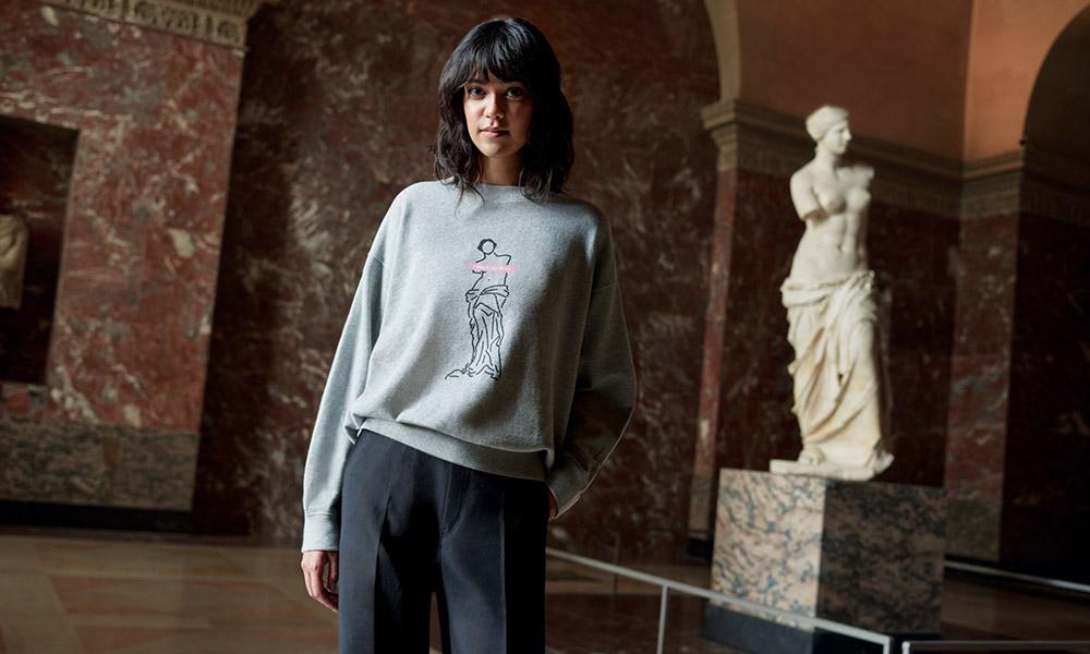 uniqlo musee du louvre women sweatshirt